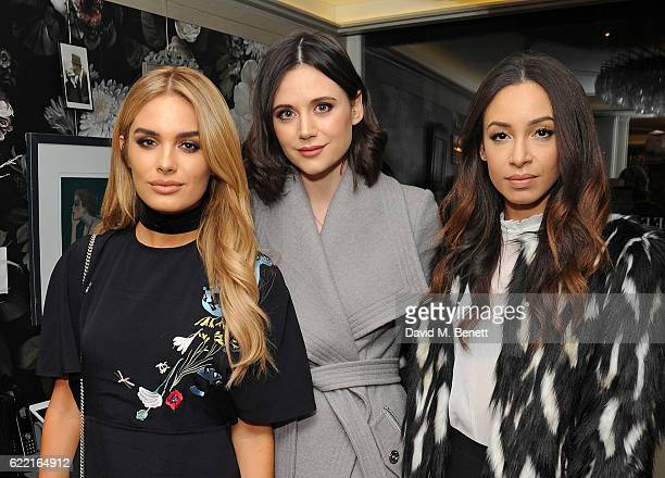 Chloe Lloyd Lilah Parsons and Danielle Peazer attend 5 Years of Gazelli SkinCare on November 10 2016 in London England