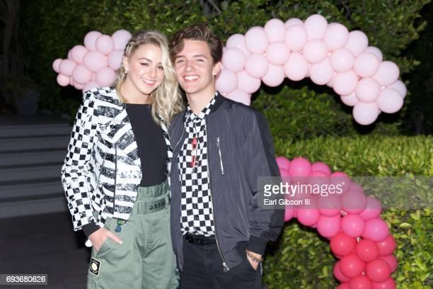 Chloe Lukasiak and Noah Urrea attend Chloe Lukasiak's Sweet Sixteen Pool Party on June 7 2017 in Los Angeles California