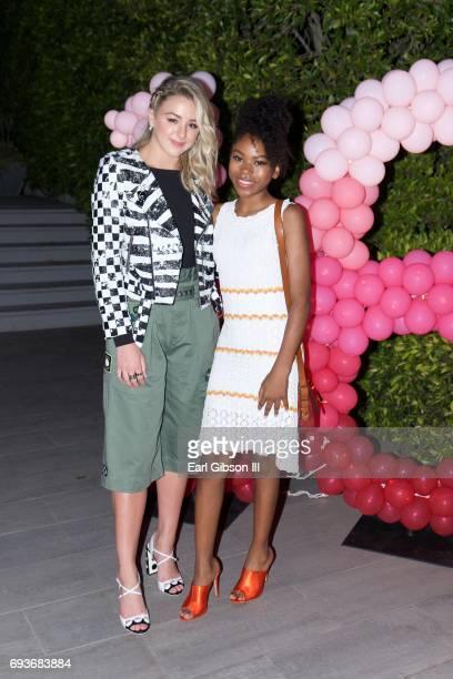 Chloe Lukasiak and Riele Downs attend Chloe Lukasiak's Sweet Sixteen Pool Party on June 7 2017 in Los Angeles California