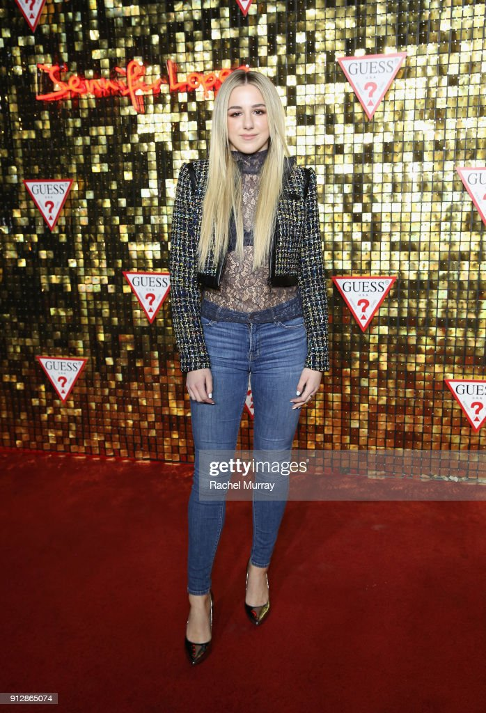 Chloe Lukasiak at the Guess Spring 2018 Campaign Reveal starring Jennifer Lopez on January 31, 2018 in Los Angeles, California.