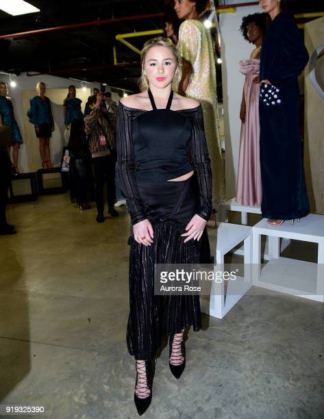 Chloe Lukasiak attends Arianne Elmy FW18 Presentation at 151 Gallery on February 14 2018 in New York City