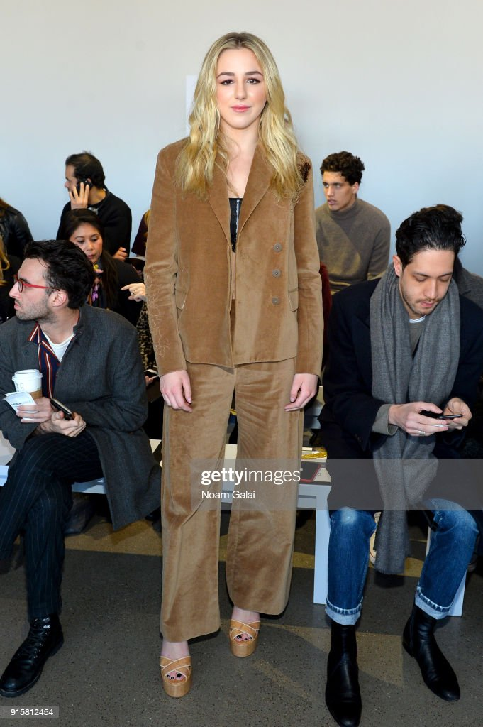 Chloe Lukasiak attends the front row for Noon by Noor during New York Fashion Week: The Shows at Gallery II at Spring Studios on February 8, 2018 in New York City.