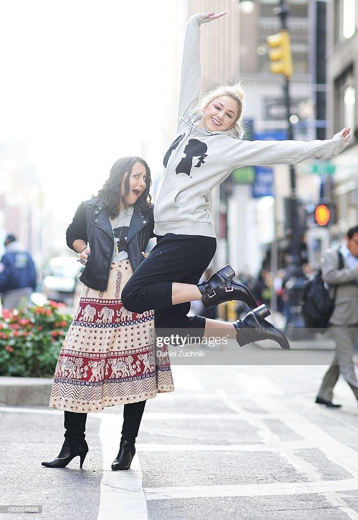 Chloe Lukasiak Visits Stacy Igel At Boy Meets Girl : News Photo
