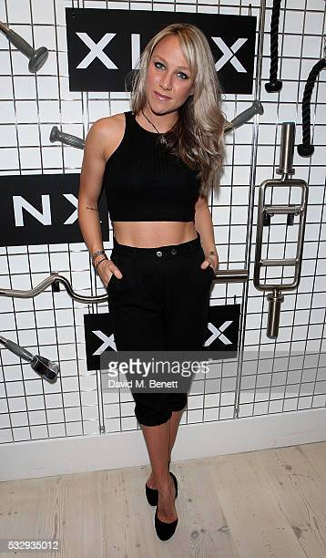 Chloe Madeley attends as activewear brand 'Xinx' launch a popup store in Notting Hill on May 19 2016 in London England