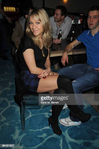 Chloe Madeley attends the 2010 SuperBowl Party hosted at Planet Hollywood on February 07 2010 in London England