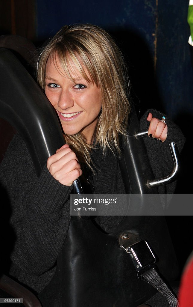 ACCESS** Chloe Madeley attends the launch of SAW Alive - the world's most extreme live horror maze at Thorpe Park on March 9, 2010 in Chertsey, England.