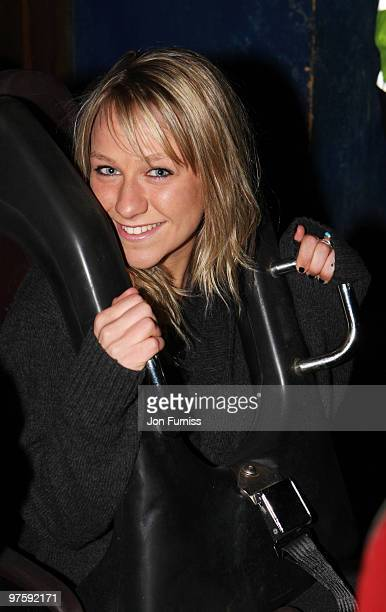 ACCESS** Chloe Madeley attends the launch of SAW Alive the world's most extreme live horror maze at Thorpe Park on March 9 2010 in Chertsey England