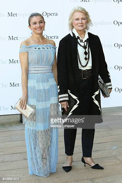 Chloe Malle and actress Candice Bergen attend the Met Opera 20162017 Season Opening Performance Of 'Tristan Und Isolde' at The Metropolitan Opera...