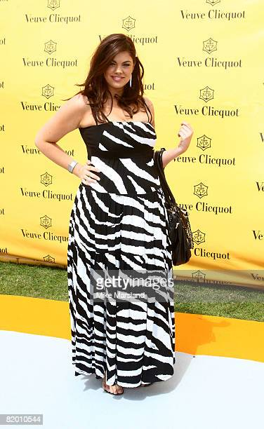 Chloe Marshall arrives at the Verve Clicquot Gold Cup on July 20 2008 in Midhurst England