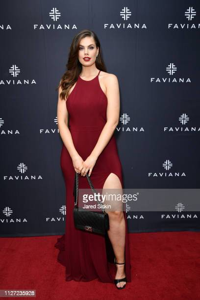 Chloe Marshall attends Faviana's Annual Oscars Red Carpet Viewing Party on February 24 2019 at 75 Wall St in New York City