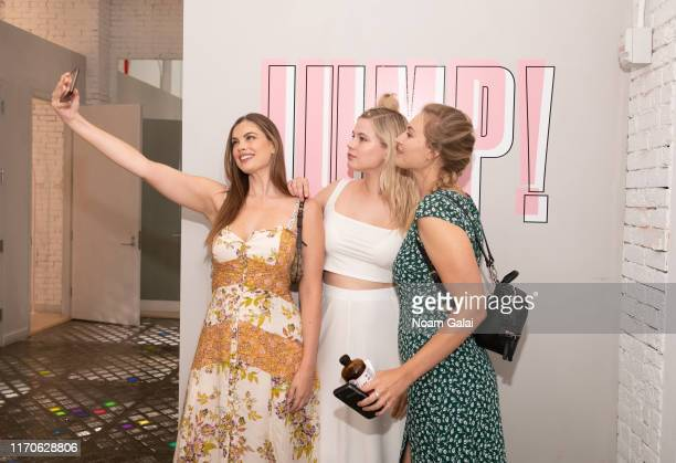 Chloe Marshall Melissa Koole and Baillie Riddell attend the Beyond Yoga x Amanda Kloots Collaboration Launch Event on August 27 2019 in New York City