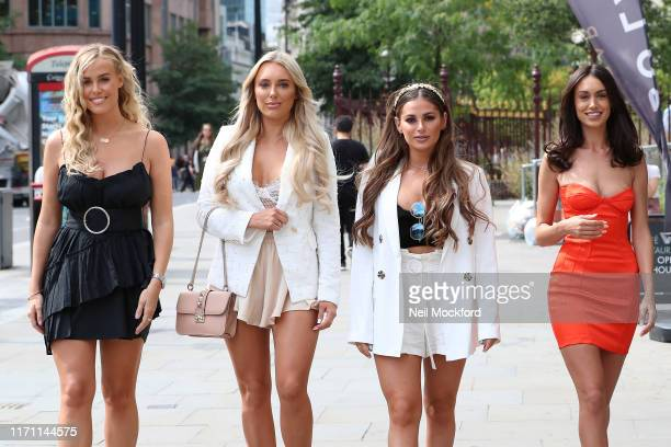 Chloe Meadows Amber Turner Courtney Green and Clelia Theodorou seen arriving for The Only Way Is Essex Series 25 summer party at Jin Bo Law on August...