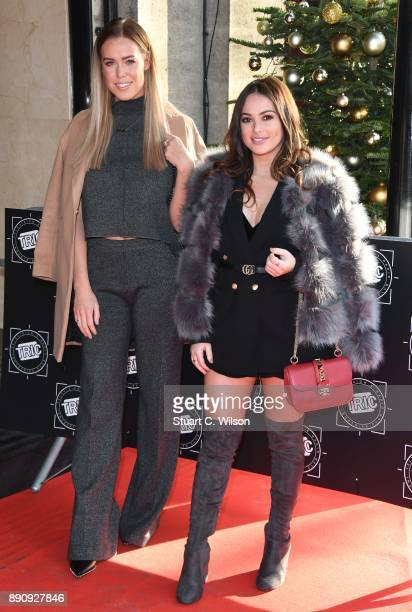 Chloe Meadows and Courtney Green attend the TRIC Awards Christmas lunch at Grosvenor House on December 12 2017 in London England