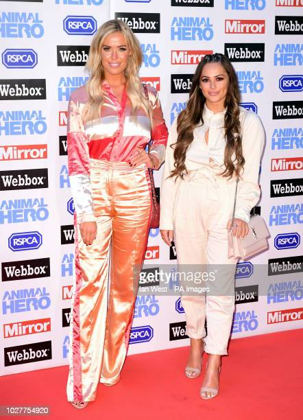 Chloe Meadows and Courtney Green attending the Animal Hero Awards held at the Grosvenor House Hotel London