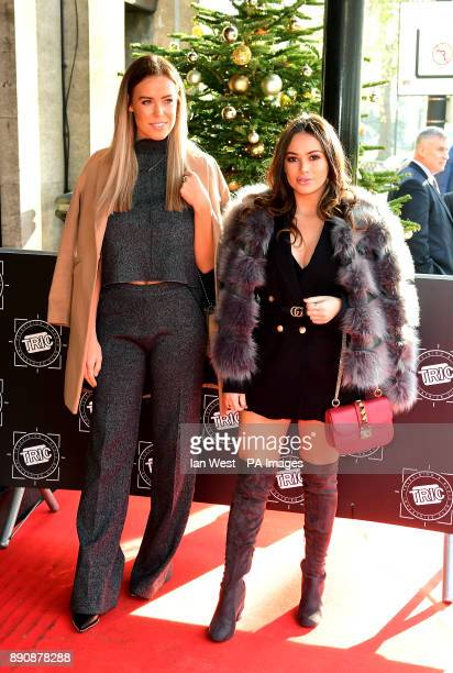 Chloe Meadows and Courtney Green attending the TRIC Christmas Party at Grosvenor House Hotel London