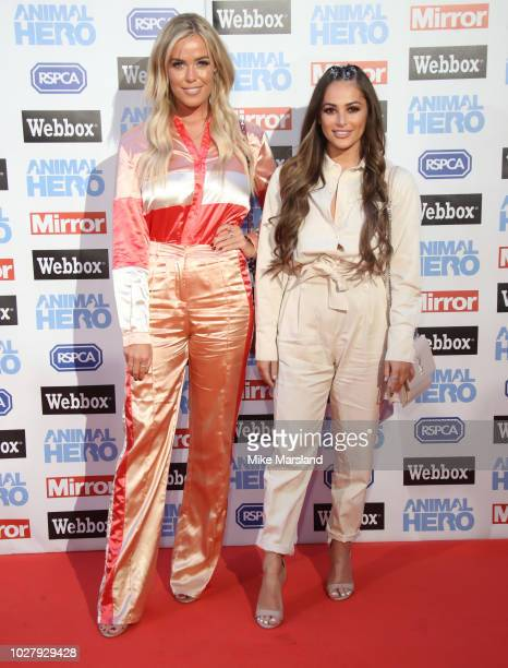 Chloe Meadows and Courtney Green attends the Daily Mirror RSPCA Animal Hero awards at Grosvenor House on September 6 2018 in London England