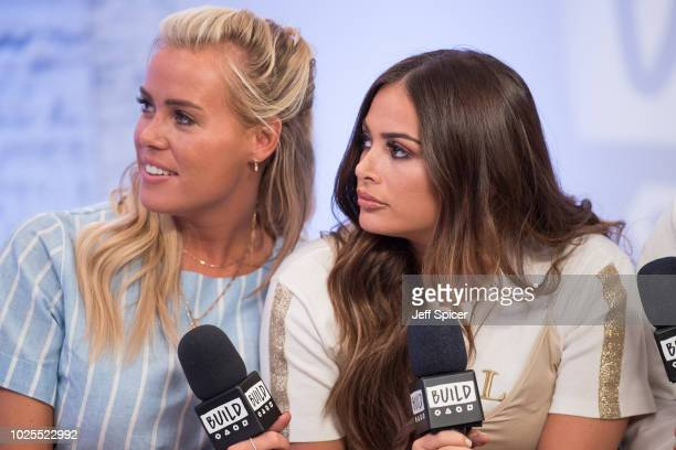 Chloe Meadows and Courtney Green from 'The Only Way Is Essex' during a BUILD panel discussion on August 31 2018 in London England