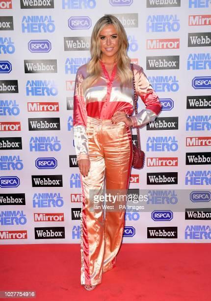 Chloe Meadows attending the Animal Hero Awards held at the Grosvenor House Hotel London