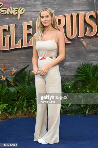 """Chloe Meadows attends Disney's """"Jungle Cruise"""" UK premiere at Cineworld Leicester Square on July 29, 2021 in London, England."""