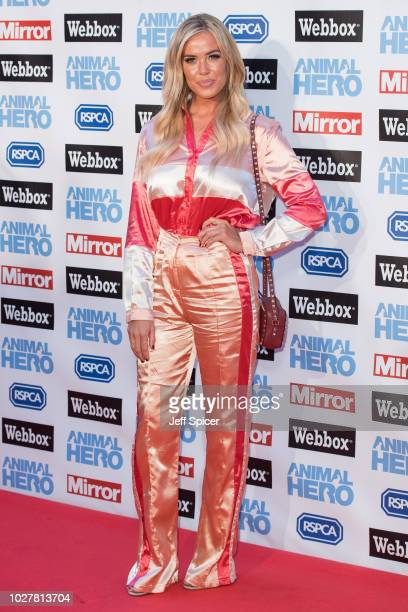 Chloe Meadows attends the Daily Mirror RSPCA Animal Hero awards at Grosvenor House on September 6 2018 in London England