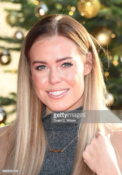 Chloe Meadows attends the TRIC Awards Christmas lunch at Grosvenor House on December 12 2017 in London England