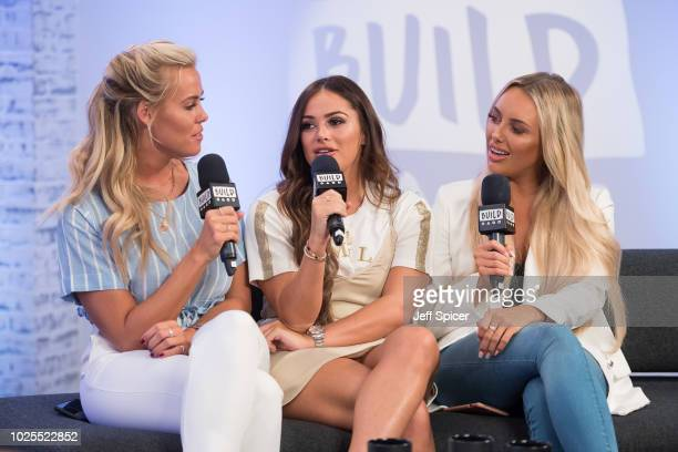 Chloe Meadows Courtney Green and Amber Turner from 'The Only Way Is Essex' during a BUILD panel discussion on August 31 2018 in London England