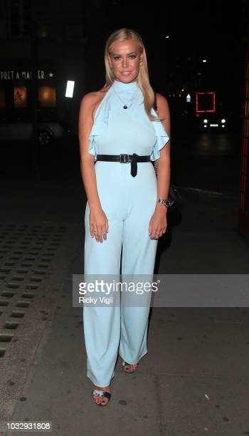 Chloe Meadows seen attending Chi Chi London App VIP launch party at Tape club on September 13 2018 in London England