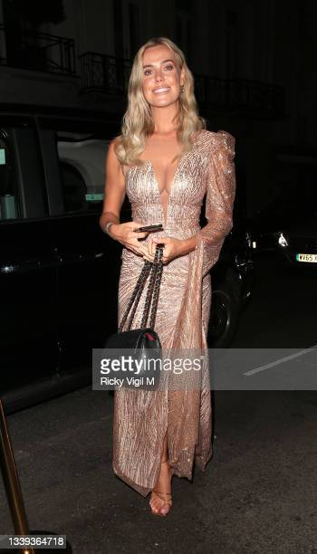 Chloe Meadows seen attending National Television Awards 2021 afterparty at Bagatelle in Mayfair on September 09, 2021 in London, England.