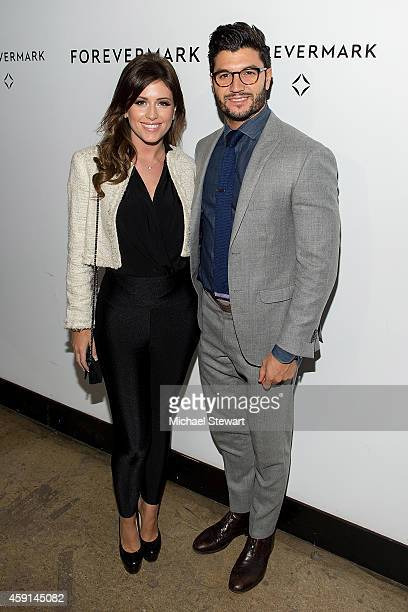 Chloe Melas and Paige Hospitality Group VP Brian Mazza attend Hold My Hand Forever Exhibition By Forevermark at Highline Studios on November 17 2014...
