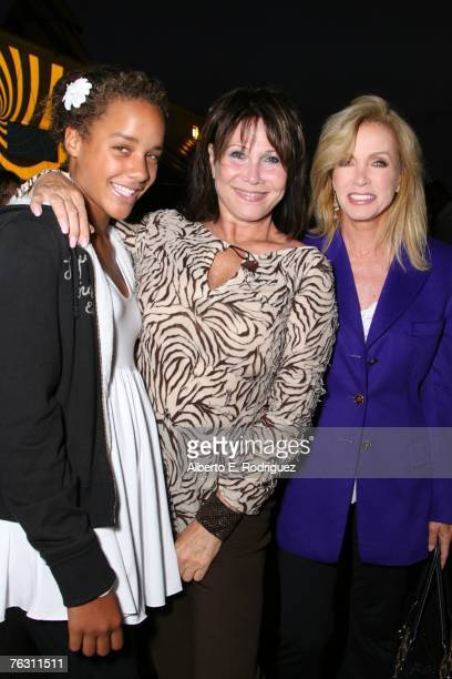Chloe Mills actress Michelle Lee and actress Donna Mills attend the opening night of Cirque du Soleil's Corteo on August 23 2007 in Los Angeles...