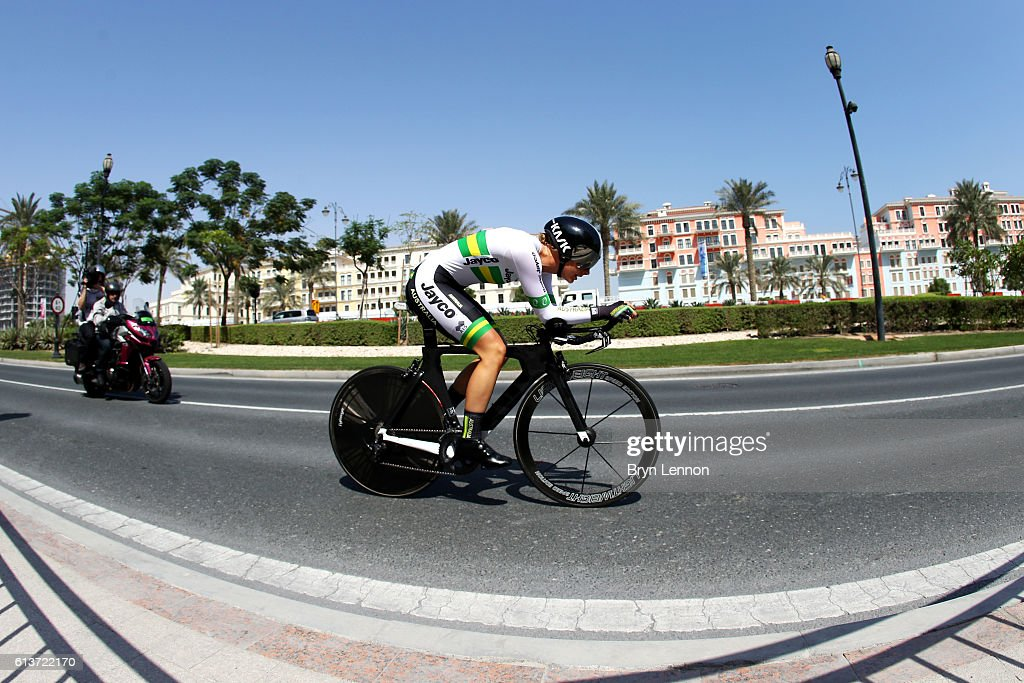 Chloe Moran of Australia competes in the Junior Women's Individual Time Trial during day two of the UCI Road World Championships on October 10, 2016 in Doha, Qatar.