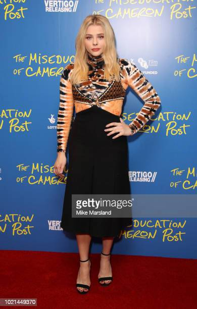 Chloe Moretz attends the gala screening of The Miseducation of Cameron Post at Picturehouse Central on August 22 2018 in London England