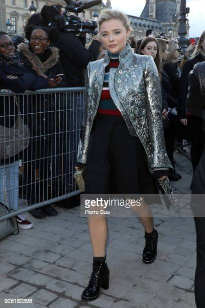 Chloe Moretz attends the Louis Vuitton show as part of the Paris Fashion Week Womenswear Fall/Winter 2018/2019 on March 6 2018 in Paris France