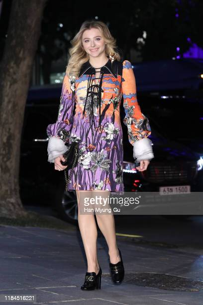Chloe Moretz attends the photocall for 'Louis Vuitton Maison Seoul' opening party on October 30 2019 in Seoul South Korea