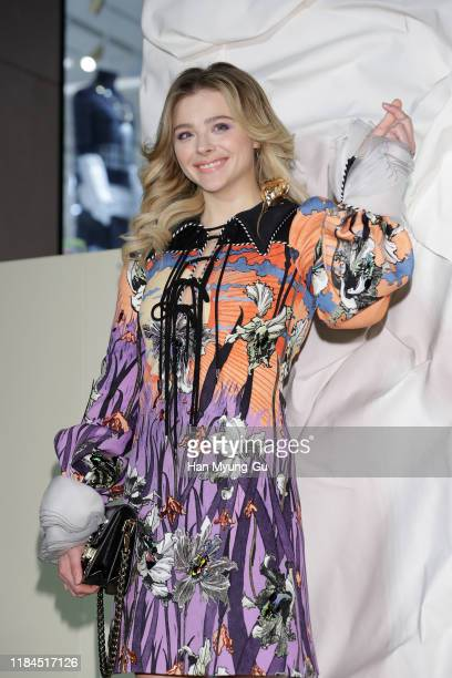 Chloe Moretz attends the photocall for 'Louis Vuitton Maison Seoul' opening party on October 30, 2019 in Seoul, South Korea.