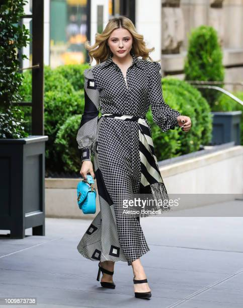 Chloe Moretz is seen leaving her hotel on August 2 2018 in New York New York