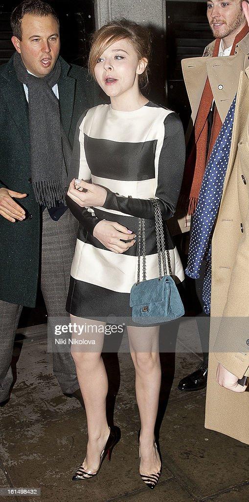 Chloe Moretz sighting on February 11, 2013 in London, England.