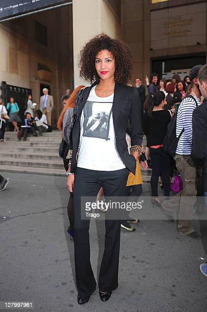 Chloe Mortaud attends the PaulJoe Ready to Wear Spring / Summer 2012 show during Paris Fashion Week at Palais de Chaillot on October 4 2011 in Paris...