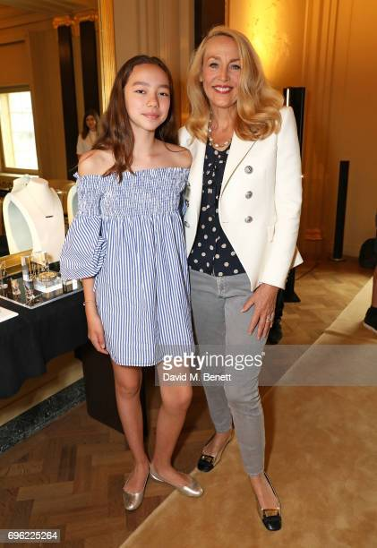 Chloe Murdoch and Jerry Hall attend a ladies lunch for Jade Jagger Fine Jewellery at Hotel Cafe Royal hosted by Jerry Hall Jade Jagger and supported...