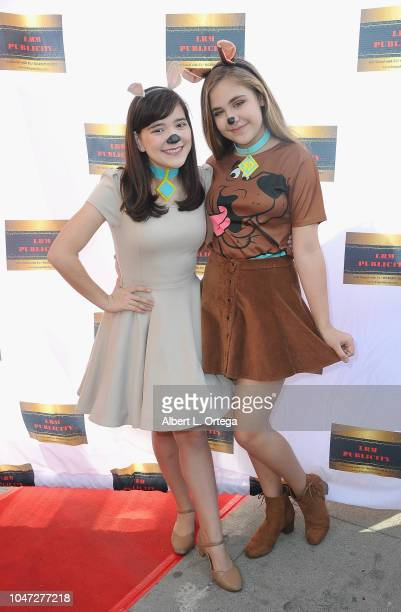 Chloe Noelle and Alyssa de Boisblanc arrive for Jax Malcolm's 3rd Annual #ActionJax Movie Morning Fundraiser held at the Vista Theatre on October 7...