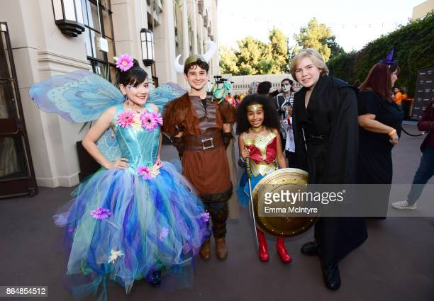 Chloe Noelle Jax Malcolm Jordyn Curet and Connor Dean at the Dream Halloween 2017 Costume Party Benefitting Starlight Children's Foundation presented...