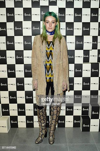 Chloe Noorgard attends the Serpentine Future Contemporaries x Harrods Party 2016 at The Serpentine Sackler Gallery on February 20 2016 in London...