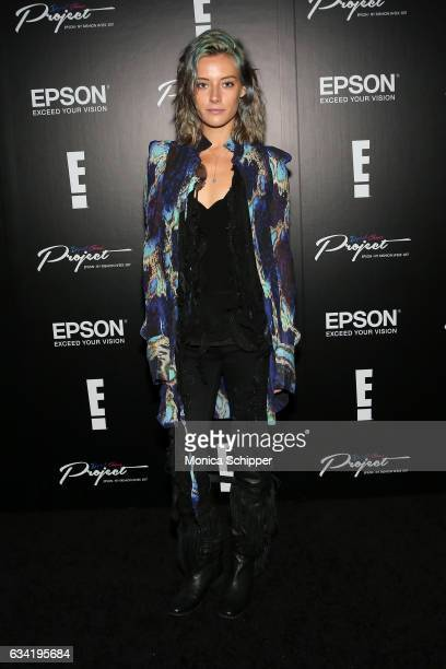 Chloe Norgaard attends the Epson Digital Couture Presentation February 2017 during New York Fashion Week at IAC Building on February 7 2017 in New...