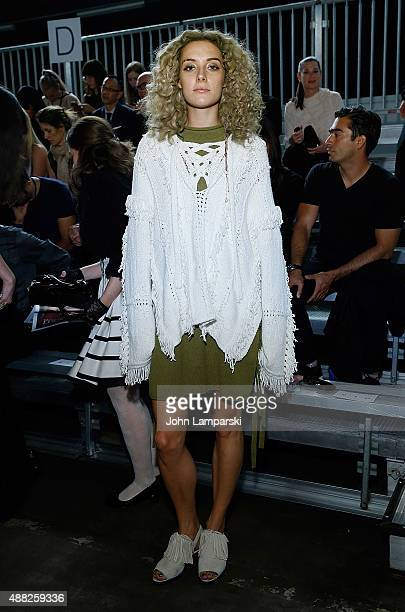 Chloe Norgaard attends the Phillip Lim collection during Spring 2016 New York Fashion Week at Pier 94 on September 14, 2015 in New York City.