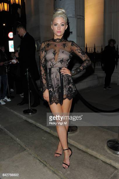 Chloe Paige attends London Fashion Week a/w 2017 Happy Andrada catwalk show at the Freemasons Hall on February 18 2017 in London England