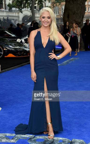 Chloe Paige attends the global premiere of Transformers The Last Knight at Cineworld Leicester Square on June 18 2017 in London England