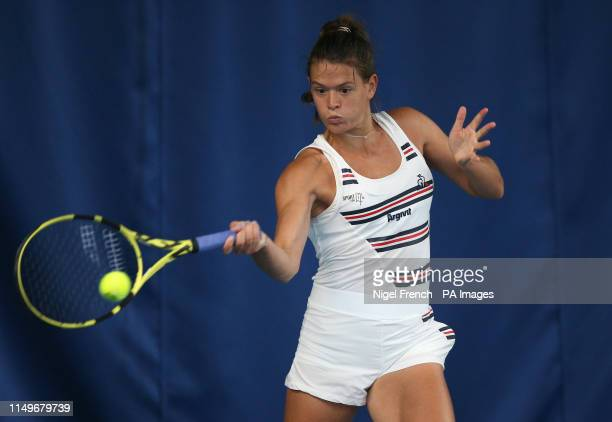 Chloe Paquet during day six of the Nature Valley Open at Nottingham Tennis Centre