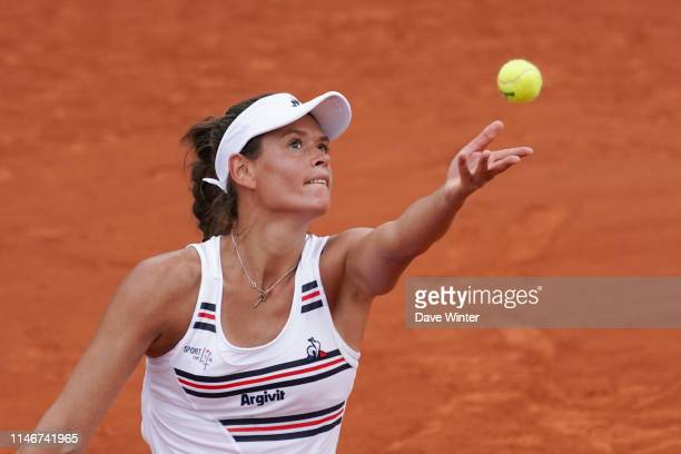 Chloe Paquet of France during the first round on Day 3 of Roland Garros on May 28 2019 in Paris France
