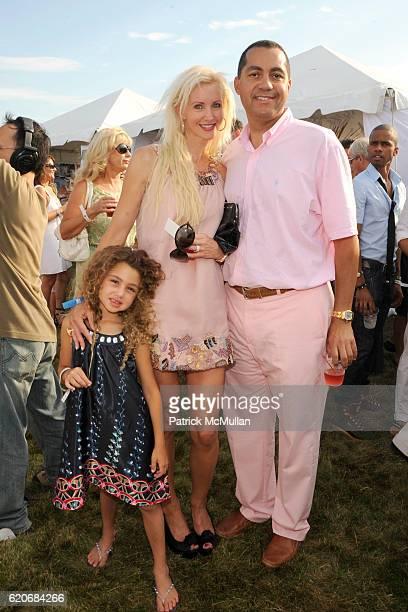 Chloe Peebles Katrina Peebles and Don Peebles attend TMOBILE SIDEKICK Lounge at the MERCEDESBENZ Bridgehampton Polo Challenge Hosted by CHACE...