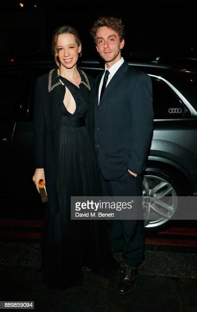 Chloe Pirrie and guest arrive in an Audi at the British Independent Film Awards at Old Billingsgate on December 10 2017 in London England